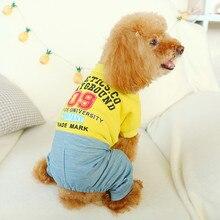 Новинка года; комбинезон с буквенным принтом для домашних животных; модные удобные комбинезоны для собак; одежда для чихуахуа; Французский бульдог;# NN827