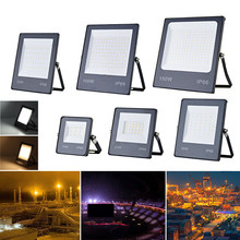 Reflector LED AC165-265V, 10W, 20W, 30W, 50W, 100W, impermeable, IP66, foco de pared, iluminación de jardín