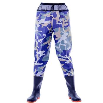 Oddychające spodnie Wader spodnie wędkarskie pół ciała wygodne spodnie Wader z butami na zewnątrz tanie i dobre opinie Leorx Other