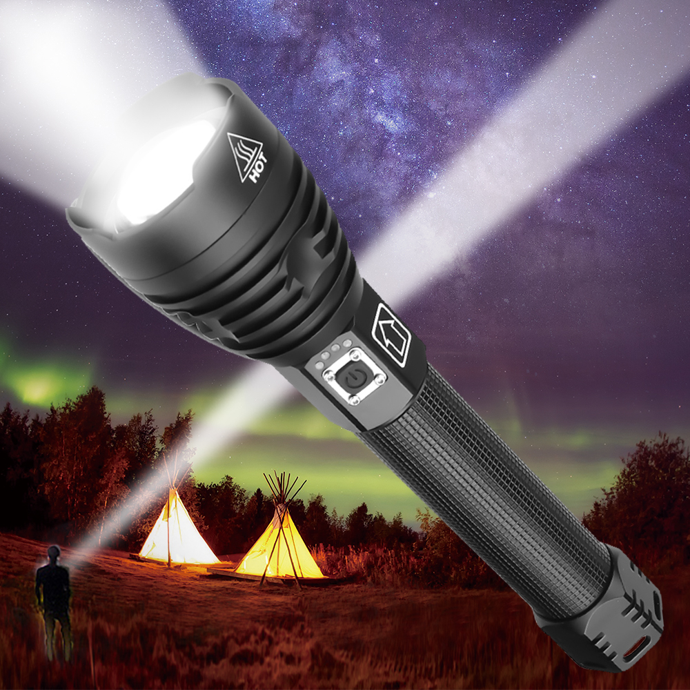 Bright Most Powerful XHP90 LED Flashlight XLamp Zoom Torch XHP70 USB Rechargeable Waterproof Lamp Use 18650 26650 For Camping