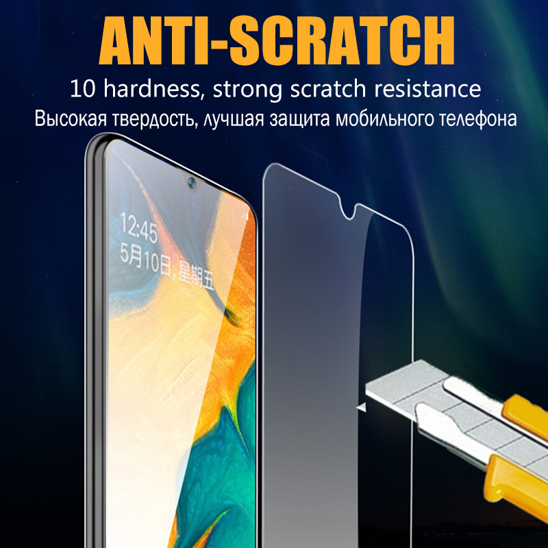 Full Cover Clear Screen Protector Tempered Glass For Samsung Galaxy A10 A50 A20 A70 A51 1