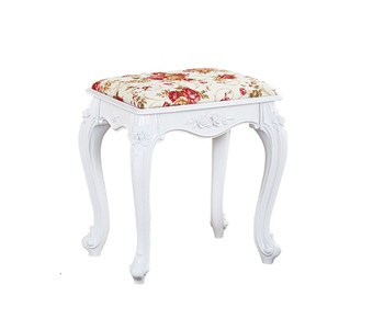 European American Dressing Table Stool Makeup Stool Soft Bag Small Square Stool Home Chair Princess Bedroom Nail Bench Guzheng S