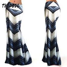 Zig Zag Stripe mermaid skirt popular summer and spring stretch fashion colorful new stripe maxi skirts women