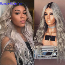13*4 Lace Front Human Hair Wigs Natural Wave Colored Pink/blue/99J /ash grey 250density Wig Brazilian Remy Baby Hair Custom Wigs(China)