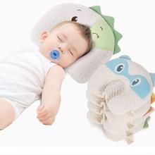 Baby Pillow Newborn Infant Latex head pillows Cute Cartoon Kids Breathable Corrective Sleeping Pillow Anti Flat Head in 2020