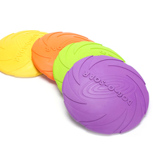 Fashion Dog Flying Disc Trainning Puppy Toy Large Training Rubber Fetch Frisby Pet Supplies