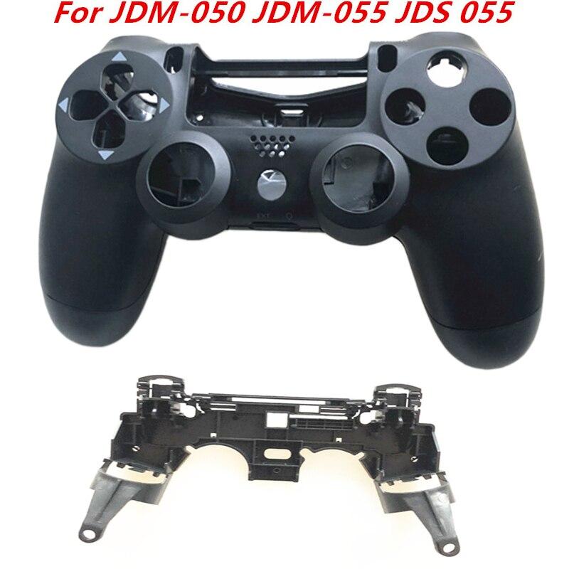 Front Back Housing Shell Case For PS4 JDM-050 JDM-055 JDS 055 JDS 050 Controller With R1 L1 Key Holder Support Inner Frame