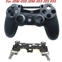 Coque avant et arrière pour manette de PS4, avec Support de clé R1 L1, cadre intérieur, JDS 055, JDS 050, JDM-050, JDM-055