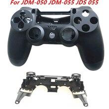 Funda de Carcasa Trasera frontal para mando de PS4 JDM 050, JDM 055, JDS 055, JDS 050, con soporte de llave R1 L1, marco interno