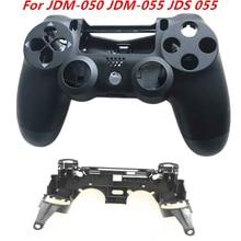 Przednia tylna obudowa Shell Case dla PS4 JDM 050 JDM 055 JDS 055 JDS 050 kontroler z R1 L1 kluczowy wspornik do uchwytu wewnętrzna rama