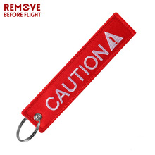 Travel Accessories Fashion Car Keychain Tag Portable Label Bag Remove Before Flight CAUTION Letter Aviation Tag Gifts