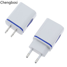 5V 2A Mobile Phone Charger USB Power Adapter EU US Plug Wall Travel Charger for Iphone Samsung Xiaomi Illuminate with Led Light стоимость
