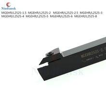 MGEHR2525 MGEHL2525 porte-outil de tournage de rainurage en métal externe CNC outils de coupe de LatheTurning 1.5mm 2mm 2.5mm 3mm 4mm 5mm 6mm 8mm