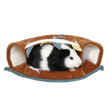 Small Pet Warm Tunnel Hammock Hanging Bed Ferret Rat Hamster Bird Squirrel Shed Cave Hut Hanging Cage Pet Birds Parrot Supplies 2