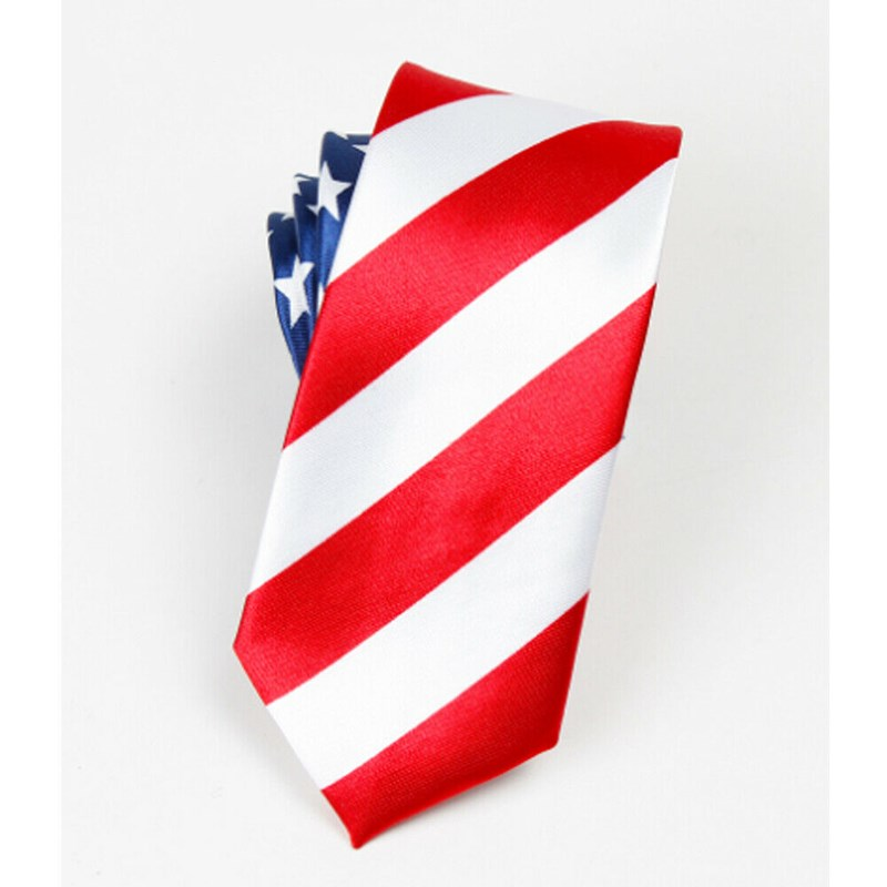 HOT Sale Classic American Flag Necktie USA US Flag Patriotic Independence Day Neck Tie For Men Male Classic American Flag Ties