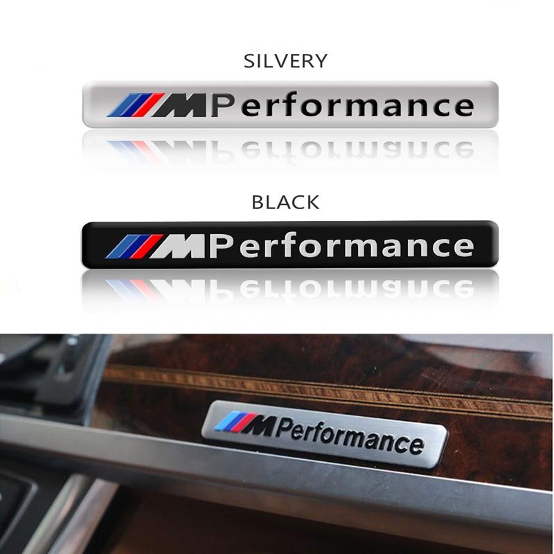 Metal Labeling M Performance Car Interior Sticker For Bmw M Sticker X1 X3 X4 X5 X6 X7 E46 E90 F20 E60 E39 F10 Car Accessories