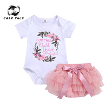 0-24M Newborn Baby Girl Toddler Print Floral Cotton Romper + Lace Tutu Skirt Outfits Clothing Infant Clothes
