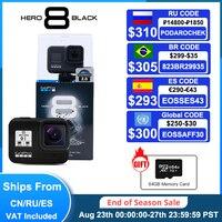 GoPro-Cámara de acción deportiva HERO 8, accesorio negro, resistente al agua, vídeo 4K, 12MP, fotos, 1080p, transmisión en vivo