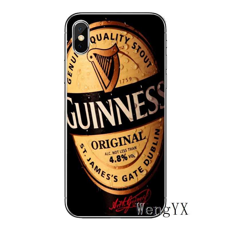 جديد غينيس البيرة آيفون 11 برو XS ماكس XR X 8 7 6 6S زائد 5 5s SE 4s 4 آي بود تاتش لينة غطاء الهاتف حالات
