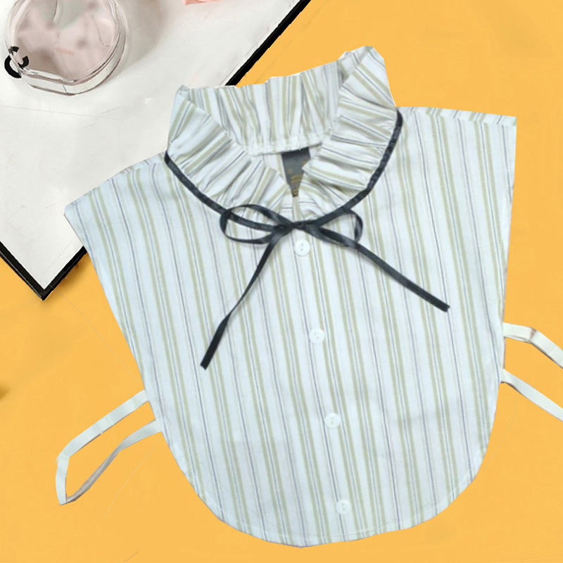 Stripe Women Fake Collar Detachable Shirt 2019 Dot Print Ladies False Collars Woman Removable Decorative Shirt Collar Denim