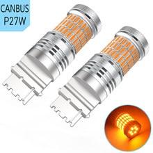 2PCS T20 7440 W21W LED Bulb 1156 P21W PY21W BAU15S 3156 Car Turn Signal Light For BMW E60 E90 F10 F30 E39 E36 F20 E91 X5 E53 E30