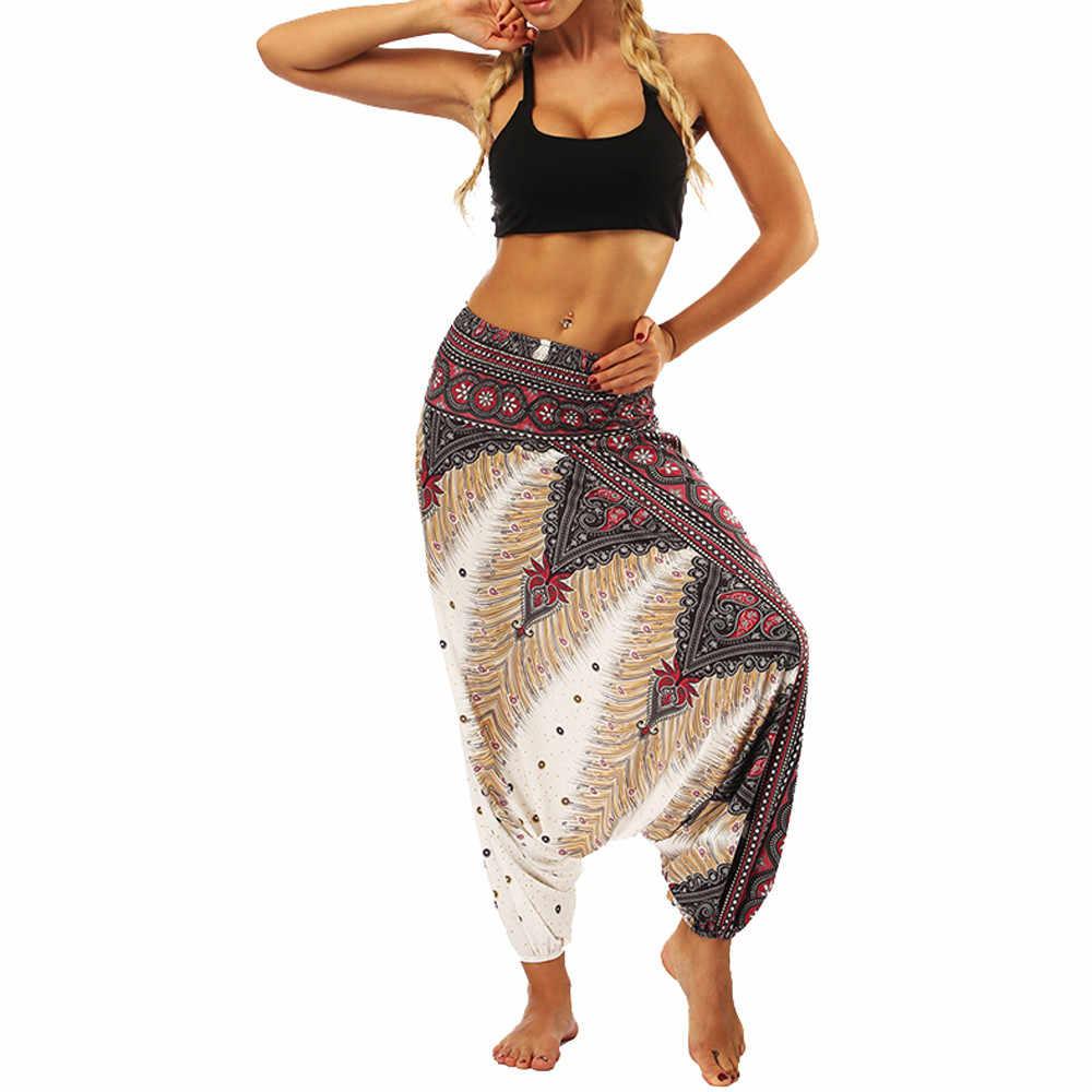 Женские свободные брюки, мужские Мешковатые Бохо Аладдин, большие штаны, комбинезон, спортивные штаны-шаровары, Летние повседневные Комбинезоны, комбинезон женский @ G8