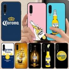 Modelo cerveja corona capa de telefone casco para huawei honor 8 8c 8a 8x9 9a 9x v10 mate 10 20 i lite pro pintura traseira preta