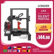 LONGER LK4 impressora 3d com tela sensível ao toque retomar a impressão filamento detector novo design quadro kit impressora 3d open source 3d impresora impresoras 3d 3D Printer