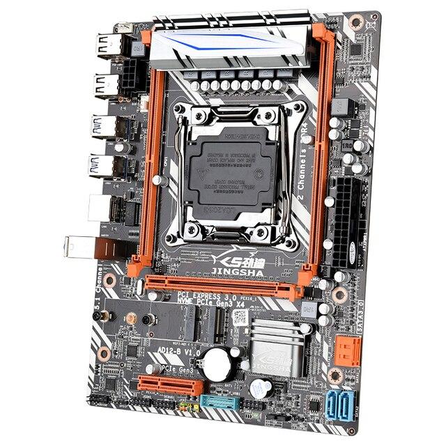 JINGSHA X99 D4 Placa base con Xeon E5 2630 V3 LGA2011-3 CPU 2 uds X 8GB = 16GB 2400MHz DDR4 de memoria