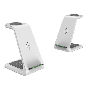 Image 5 - Soporte de cargador inalámbrico Qi de 10w, cargador inalámbrico 3 en 1 para Samsung Galaxy Buds Note 10 Plus, carga para Iphone Airpods Pro Watch