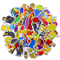10/30/50 шт творческие анимационные с героями мультфильма Симпсоны характер узором в стиле «граффити» стикеры чемодан Водонепроницаемый укра...