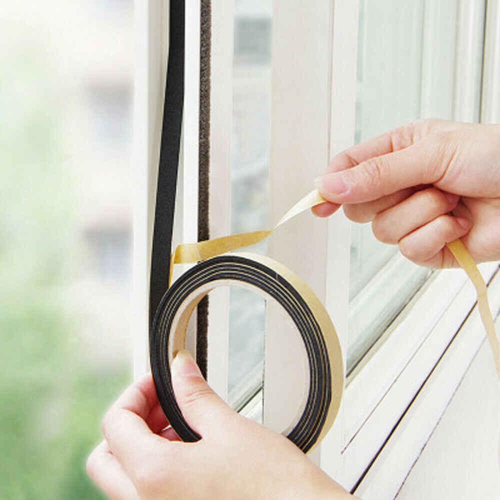 1 rolka miękka 5M samoprzylepna taśma uszczelniająca okna drzwi samochodu izolacja akustyczna gumowa odkurzająca taśma uszczelniająca sprzęt domowy akcesoria