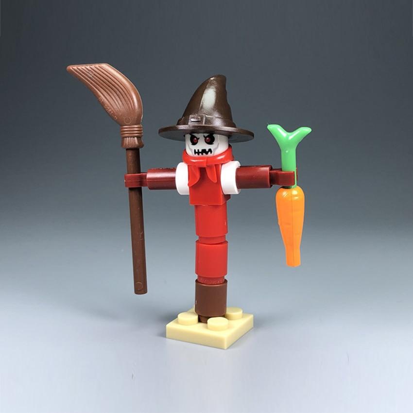 Single Legoings Farm Building Block Scarecrow Halloween Scene MOC Accessories Brick Children DIY Kit Toy Gift (2)