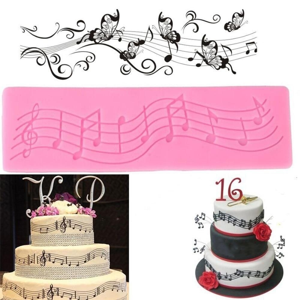 Music Note Silicone Fondant Cake Mould Decorating Mold Baking Chocolate Mold