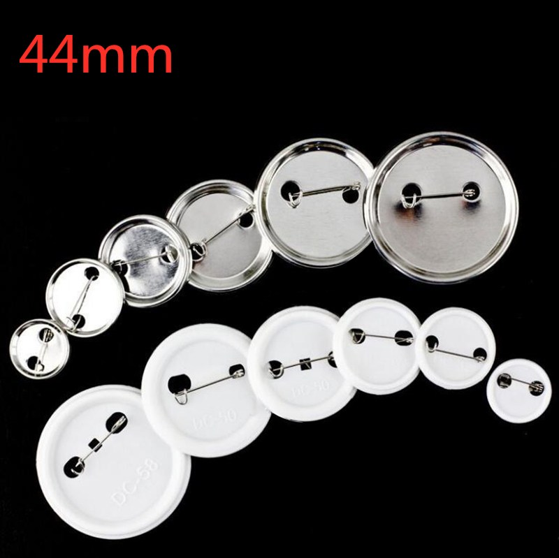 100 Pcs/Set 44MM Tinplate Badge Consumables Badge Armband Pin Badge Worker Number DIY Blank Materials Badge Accessories