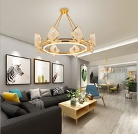 Postmodern LED Crystal Light Nordic Living Room Light Luxury Simple Lamp Restaurant Creative Design Bedroom Ceiling Chandelier