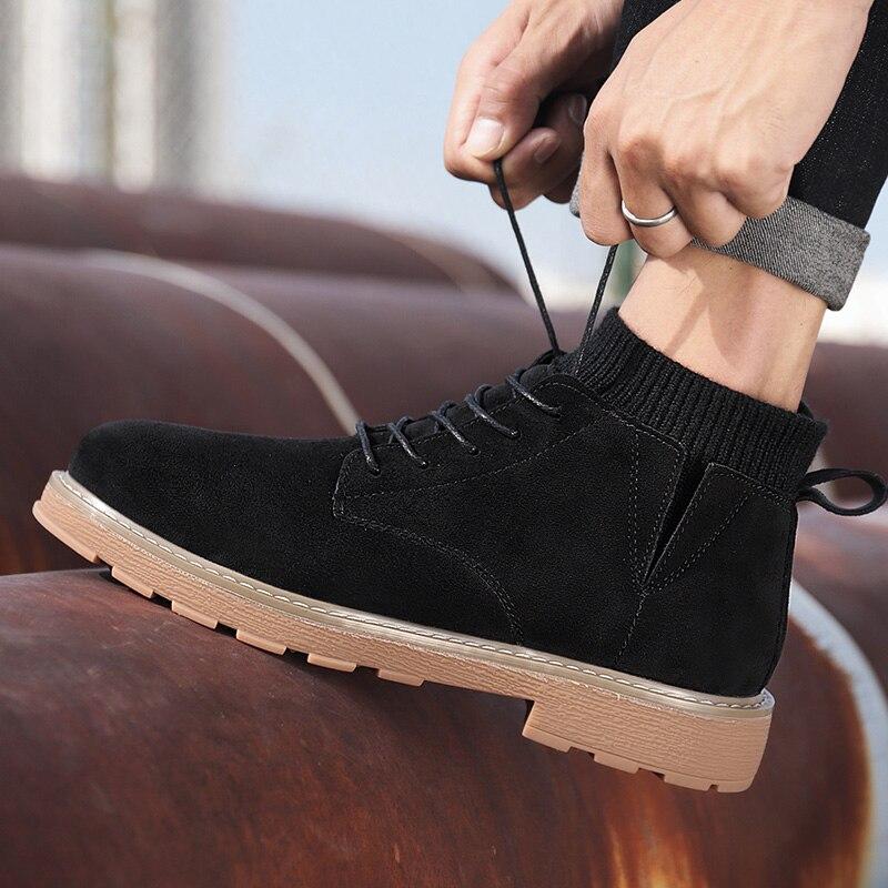 Fashion Men Sneakers Men Winter Snow Boots Waterproof Flock Outdoor Footwear  Bottes Pour Hommes Walking Boots Zapatos De Hombre