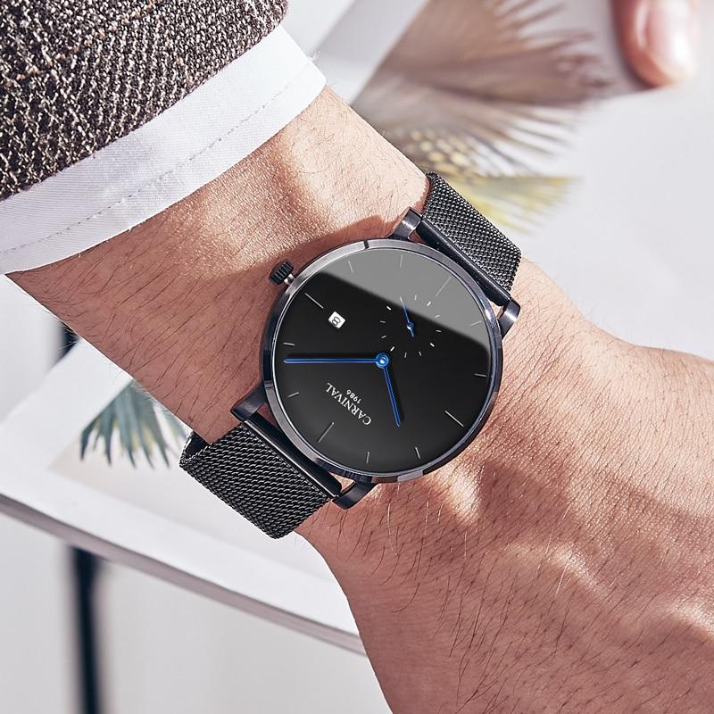 KARNEVAL Mode Herren Uhren Top Brand Luxus Multifunktions Automatische Uhr Männer Kalender Wasserdicht Leucht Mechanische Uhren - 6