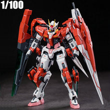 Model-Kits Sword Action-Figures Gundam MJH Children's Toys 1/100-Seven Assemble GN-0000/7S