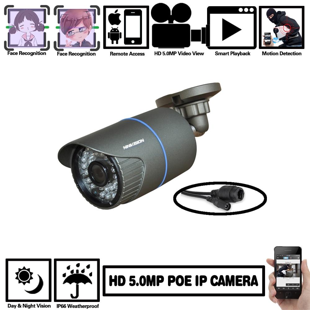 NINIVISION H.265 IP POE Sicherheit Kamera 5MP Freien Wasserdichte Video Überwachung Kamera H.265 Netzwerk Kamera Bewegung XMEye