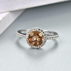 Image 4 - Zultanite султанит изменение цвета כסף טבעת נשים אופנה 2.3 קראט נוצר Diaspore S925 נישואים צבע שינוי אבן