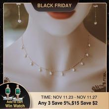 Gold Gefüllt Halskette Süßwasser Perlen Schmuck Handgemachte Vintage Einfache Party Collier Bijoux Femme Halskette für Frauen