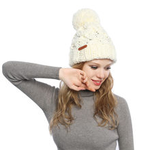 Frauen Winter Herbst Hut Wolle Stricken Mode Winter Warm Beanie Hut Kalten Schutz Hülse Kapuze Gestrickte Hut Outdoor Sport(China)
