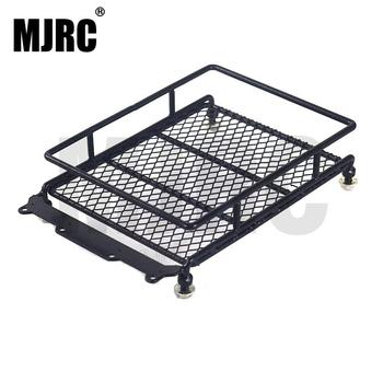 1/10 RC Car Rock Crawler Metal Roof Rack Luggage Carrier with LED Lights Bar for TAMIYA CC01 AXIAL SCX10 D90 RC Luggage Rack image