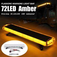 72 LED 97cm 4 Side Car Roof Advisor Beacon Strobe Flashing Security Warning Light Bar Recovery Emergency Light Lamp Amber