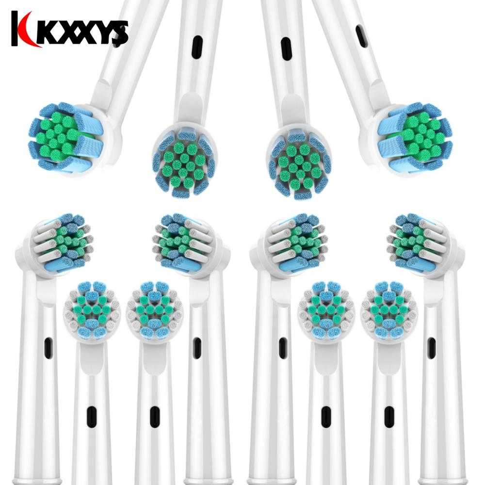 8 pcs Cross Function 3D PRO Replacement Toothbrush Heads Compatible with Oral B Electric Toothbrush D12 D16 D29 D20 D32 OC20 D10