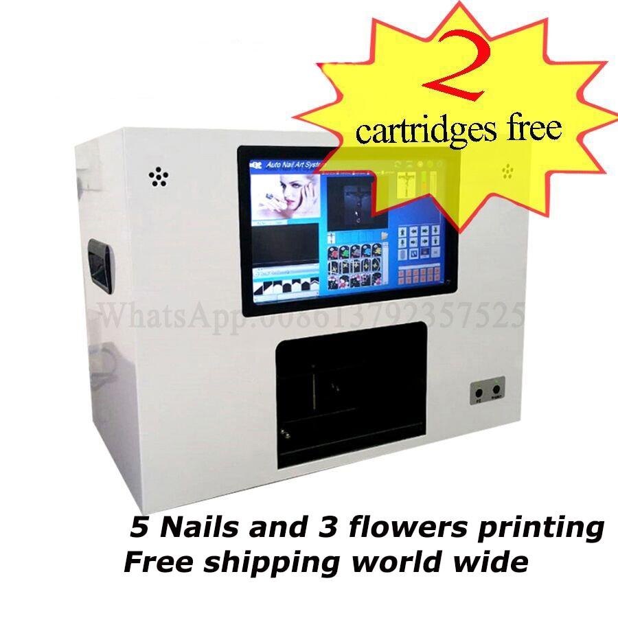 5 unhas maquina de impressao 5 unhas e 3 flores impressora maquina do prego frete gratis