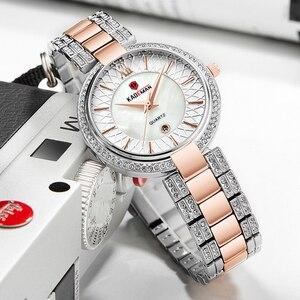 Image 2 - KADEMAN Montre à Quartz pour femmes, accessoire de marque de luxe, accessoire de mode, cristal, diamant étanche, nouveauté