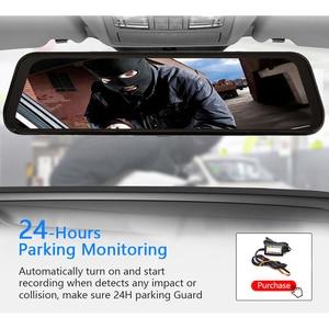 "Image 5 - Bluavido 4G ADAS Android DVR 7"" Rear View Mirror GPS Car video Recorder FHD 1080P Dash Cam With reverse camera WiFi Live monitor"