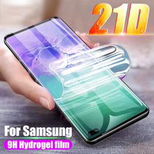 21D Soft Screen Protector For Samsung Galaxy S20 S10 S9 S8 Plus Hydrogel Film For Samsung Note 10 9 Plus S20 Ultra S10 5G Film full soft hydrogel film for samsung galaxy s10 s9 s8 a8 plus s7 edge screen protector for samsung note 9 8 s10 plus a9 not glass